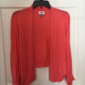 Old Navy coral lightweight cardigan like new